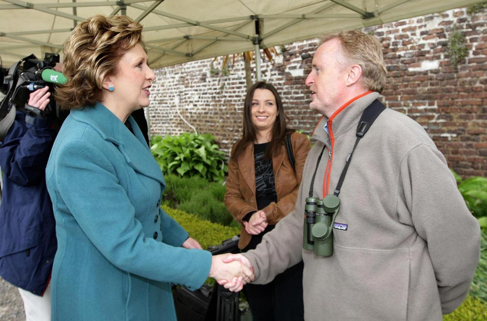 Mary McAleese and Eric Dempsey